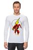 "Лонгслив ""The Flash (Молния)"" - flash, молния, dc, флэш"