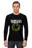 "Лонгслив ""Nirvana "" - гранж, супер, арт, nirvana, стиль, kurt cobain, логотип"