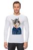 "Лонгслив ""kitty"" - cat, котэ, трубка, hipster, sailor, моряк"