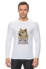 "Лонгслив ""doge wow such shirt so fashion"" - мем, пёс, wow, doge, собакен"