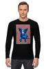 """Лонгслив """"Синий Пес"""" - сердце, любовь, собака, синий пес, blue dog"""
