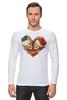 """Лонгслив """"Skull Art"""" - skull, череп, сердце, heart, цветы"""