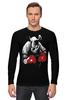 """Лонгслив """"Носорог Боксёр"""" - спорт, бокс, боксёр, носорог"""