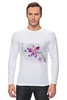 """Лонгслив """"Розовая орхидея"""" - акварель, орхидея, розовый цветы"""