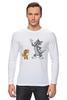 """Лонгслив """"Том и Джери"""" - мультфильм, old school, tom and jerry, cartoon"""