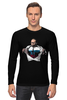 "Лонгслив ""Путин - Супермен"" - супермен, superman, россия, политика, путин, президент, putin, путин арт, патриотические футболки, футболки с путиным"