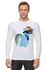 "Лонгслив ""20 % cooler"" - pony, rainbow dash, mlp, пони, ponies"