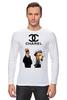 "Лонгслив ""Chanel"" - прикол, юмор, симпсоны, духи, бренд, fashion, коко шанель, brand, the simpsons, coco chanel"