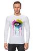 """Лонгслив """"Глаз Алмаз"""" - splash, арт, авторские майки, color, eye"""