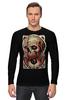"Лонгслив ""Art Horror"" - skull, череп, blood, evil, зло"