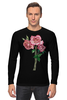 """Лонгслив """"розы"""" - цветы, акварель, розы"""