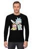 "Лонгслив ""Rick and Morty"" - cartoon, rick and morty, adult swim, рик и морти, купание для взрослых"