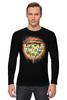 "Лонгслив ""Пицца"" - еда, радуга, rainbow, пицца, pizza"
