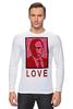 """Лонгслив """"ValenPutin"""" - сердце, путин, розы, президент, putin"""
