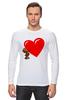 """Лонгслив """"bear heart """" - heart, bear, bear heart"""