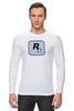 """Лонгслив """"Rockstar Light-Blue"""" - женская, grand theft auto, gta, rockstar, гта, rockstar games, video games, майки из игр"""