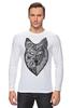 "Лонгслив ""волк (wolf)"" - графика, волк, wolf, дотворк"