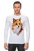 """Лонгслив """"Poly Fox"""" - fox, лиса, лисица, полигоны"""