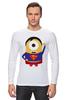 """Лонгслив """"Миньон супермен"""" - супермен, superman, миньоны, гадкий я, minion"""