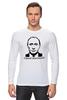 """Лонгслив """"Самая вежливая футболка"""" - путин, putin, крым, вежливые люди, вежливый"""