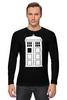 "Лонгслив ""Tardis (Тардис)"" - сериал, doctor who, tardis, доктор кто, тардис, машина времени, телефонная будка, time machine, phone box"