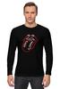 """Лонгслив """"The Rolling Stones"""" - музыка, любовь, rock, логотип, язык, рок-н-ролл, rolling stones, фан, the rolling stones"""