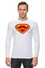 """Лонгслив """"Супермен-усач-бородач"""" - супермен, superman, борода, усы, бородач"""
