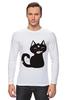 """Лонгслив """"Котенок-охотник"""" - кот, арт, котенок, рисунок, охота"""