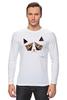 "Лонгслив ""Сердитый котик / Grumpy Cat (Art Nouveau)"" - кот, котэ, grumpy, grumpy cat, сердитый кот, унылый кот, грампи, грумпи"
