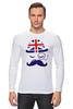 """Лонгслив """"Английский джентельмен"""" - джентельмен, усы, uk, великобритания, моноколь"""