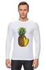 """Лонгслив """"ананас"""" - ананас, фрукт, pineapple"""