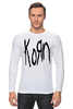 "Лонгслив ""Korn (KoЯn)"" - korn, ню-метал"