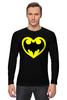 """Лонгслив """"Я люблю Бэтмена"""" - комиксы, batman, супергерои, бэтмен, человек-летучая мышь"""