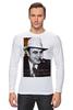 """Лонгслив """"Аль Капоне"""" - череп, пистолет, авторские майки, ny, кости, шляпа, пуля, chicago, нью йорк, гангстер"""