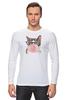 """Лонгслив """"Забавная кошка"""" - модно, кошки, casual, bubble gum"""