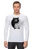 """Лонгслив """"Угрюмый Кот Инь-Янь"""" - cat, инь и ян, grumpy cat, угрюмый кот"""