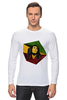 "Лонгслив ""Bob Marley"" - регги, ямайка, боб марли, bob marley, reggae, боб, ска, марли"