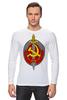 """Лонгслив """"НКВД Эмблемма"""" - ссср, россия, кгб, серп и молот, нквд"""