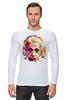 """Лонгслив """"Альберт Эйнштейн (Albert Einstein)"""" - albert einstein, физика, полигоны, polygons, альберт эйнштейн"""