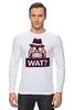 """Лонгслив """"WAT?              """" - вопрос, шляпа"""
