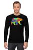 """Лонгслив """"Геометрический Медведь"""" - арт, bear, медведь, дизайн, фигуры"""