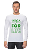 "Лонгслив ""Vegan for life"" - веган, vegan"