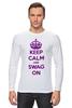 "Лонгслив ""Keep calm"" - swag, keep calm"
