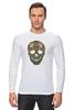 "Лонгслив ""Череп"" - skull, череп, узор, паттерн, символ, дудл"