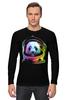 """Лонгслив """"Панда Космонавт"""" - панда, космос, абстракция, астронавт, космонавт"""