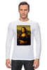 "Лонгслив ""Мона Лиза (Mona Lisa)"" - мона лиза, джоконда, mona lisa, полигоны, polygons"