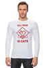 """Лонгслив """"All your needs is cats"""" - коты"""