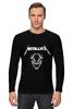 "Лонгслив ""Metallica"" - rock, metallica, металлика, джеймс хэтфилд, легенды рока"