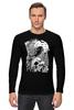 "Лонгслив ""Art Horror"" - skull, череп, ворон, тьма, black crow"