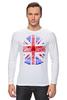 "Лонгслив ""Skull Art"" - skull, череп, uk, british flag, британский флаг"